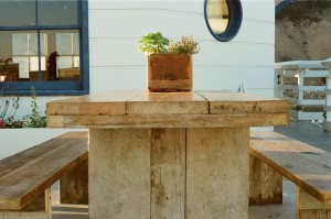 reclaimed wood table Stillwater 04489